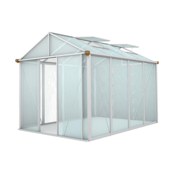 Premium Gewächshaus GFP, inkl. Fundament, 225 x 232 x 299 cm von Aldi Nord ansehen