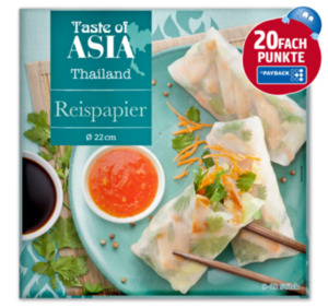 TASTE OF ASIA Reispapier