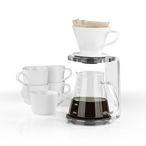 BEEM POUR OVER Kaffeebereiter Set - 5 Tassen CLASSIC SELECTION 3-teilig