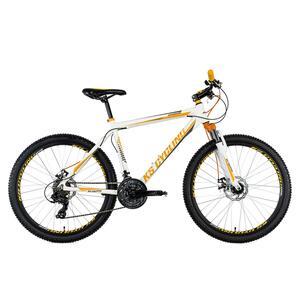 KS Cycling Mountainbike Hardtail 26'' Compound weiß-orange für Herren