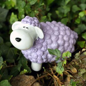 Gartenfigur Mini-Schaf Pastellflieder