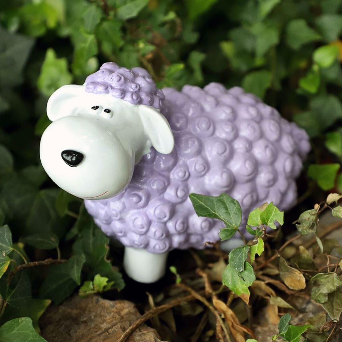 Bild 1 von Gartenfigur Mini-Schaf Pastellflieder