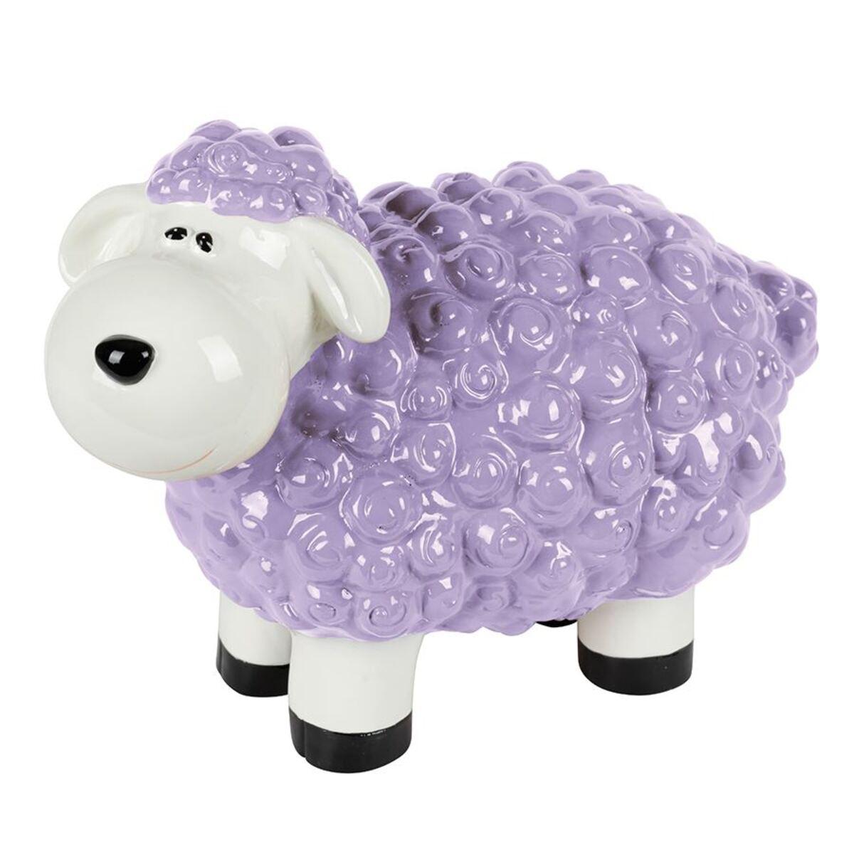 Bild 2 von Gartenfigur Mini-Schaf Pastellflieder
