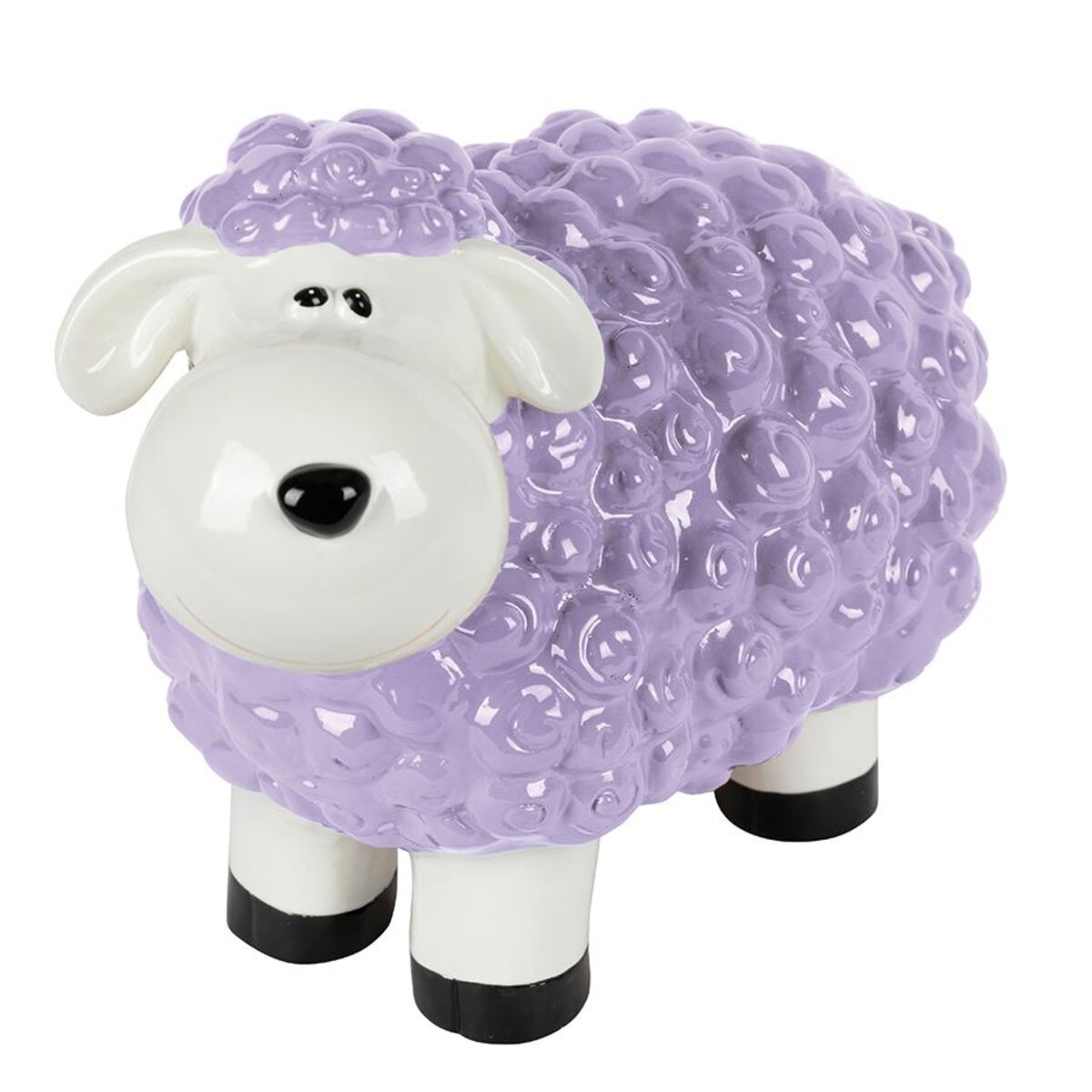 Bild 3 von Gartenfigur Mini-Schaf Pastellflieder