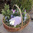 Bild 4 von Gartenfigur Mini-Schaf Pastellflieder