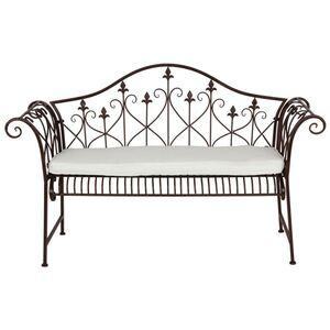 Sitzauflage für Metall-Gartenbank Elfenbein