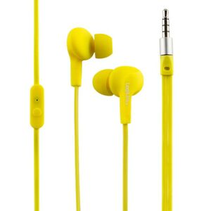 LogiLink Stereo In-Ear Headset gelb wasserdicht