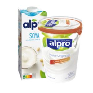 Alpro Soya-Drink, Haferdrink, Reis-Drink