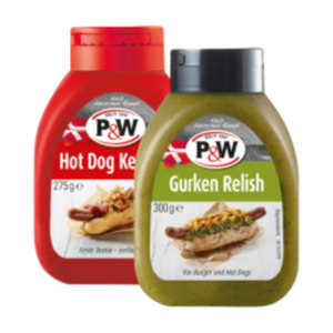 P&W Gurken Relish, Hot Dog Ketchup oder Senf