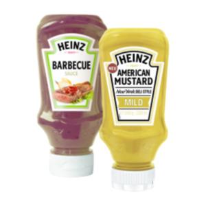 Heinz Feinkostsauce, American Mustard, Tomatenketchup oder Mayonnaise