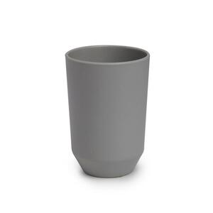 Zahnputzbecher Lilo aus Kunststoff in Grau