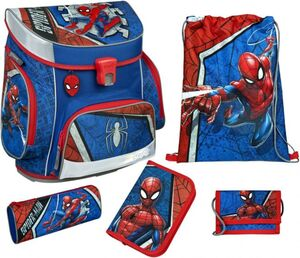 Scooli Schulranzen Set - Spiderman - Campus Fit Pro - 6-teilig
