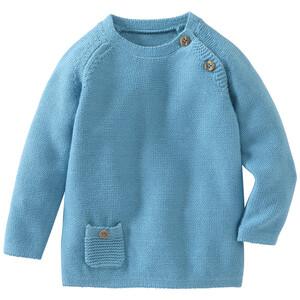 Newborn Pullover mit Schulterknöpfung