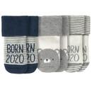 Bild 1 von 3 Paar Newborn Socken mit Born 2020-Motiv
