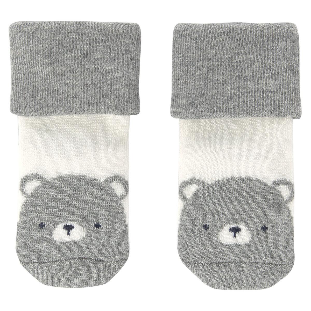 Bild 5 von 3 Paar Newborn Socken mit Born 2020-Motiv