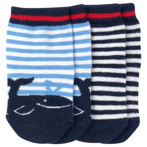 2 Paar Newborn Socken im Streifen-Look