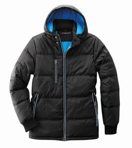 Thermojacke, wasserabweisend und warm wattiert, Farbe schwarz/blau