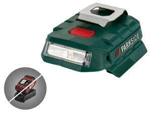 PARKSIDE® Akku-Adapter »PAA 20-Li«, mit 2 USB-Anschlüssen, zuschaltbares LED-Licht