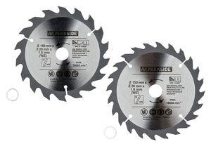 PARKSIDE® Handkreissägeblätter, 2-teiliges Set, 150 mm Durchmesser