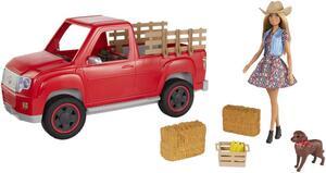 Barbie Bauernhof Fahrzeug mit Puppe