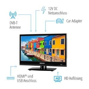 MEDION LIFE® E11940 Fernseher, 47 cm (18,5'') LCD-TV, HD Triple Tuner, integrierter Mediaplayer, Car-Adapter, CI+
