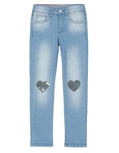Mädchen Jeans mit Herzpatches