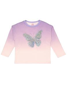 Mädchen Sweatshirt mit Farbverlauf
