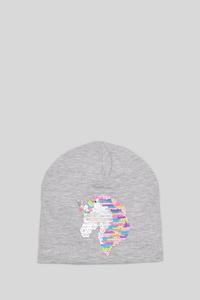 C&A Mütze-Glanz Effekt, Grau, Größe: 128-152