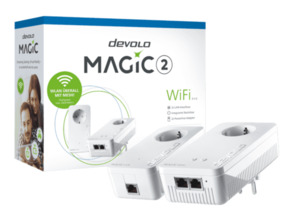 Powerline Adapter DEVOLO 8383 Magic 2 WiFi 2-1-2 Starter Kit Powerline 2400 Mbit/s Kabellos und Kabelgebunden