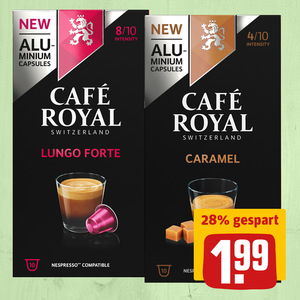 Café Royal Lungo Forte oder Caramel