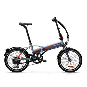 E-Bike Faltrad Klapprad 20 Zoll Tilt 500E grau/orange