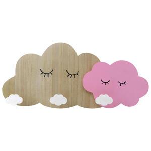 GARDEROBENLEISTE Kiefer Naturfarben, Weiß, Pink