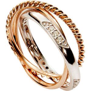 Vandenberg Damen Ring, 375er Gelb-/Weißgold mit Diamanten