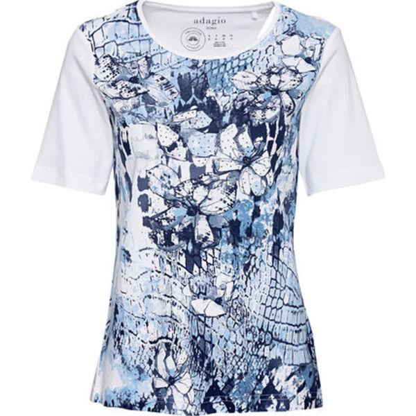 Adagio Shirt, Front-Print, Glitzersteine, Pima-Baumwolle, für Damen