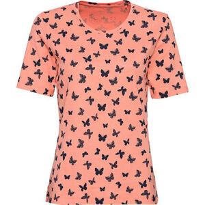 Adagio T-Shirt, Rundhals, Schmetterlings-Print, Organic Cotton, für Damen
