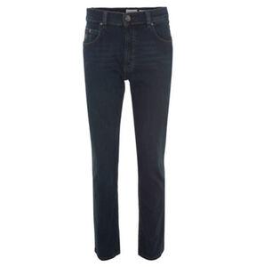 "Bugatti Jeans ""Nevada"", Regular Fit, Leder-Patch, Baumwoll-Jersey"