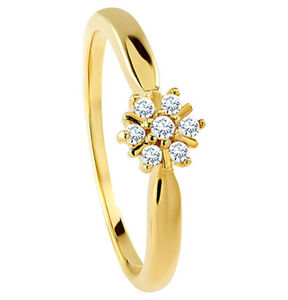 Vandenberg Damen Ring, 375er Gelbgold mit 7 Diamanten