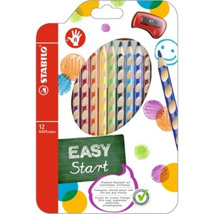 STABILO - EASY colors : 12 Buntstifte mit Spitzer