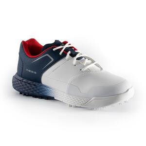 Golfschuhe Grip Waterproof Jungen weiß/blau