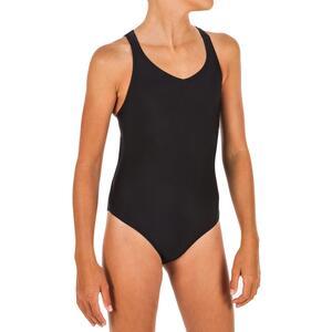 Badeanzug Snychronschwimmen Mädchen schwarz