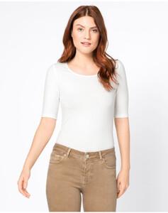 Hallhuber Basic-T-Shirt für Damen in offwhite