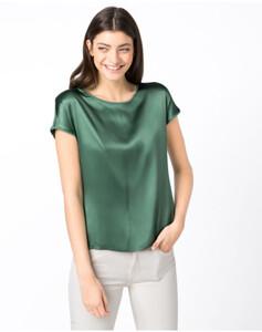 Hallhuber Basic-Seidenshirt für Damen in jade
