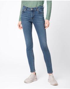 Hallhuber Basic-Skinny MIA für Damen in middle blue denim