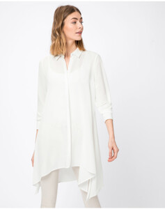 Hallhuber Long-Bluse mit Zipfelsaum für Damen in offwhite