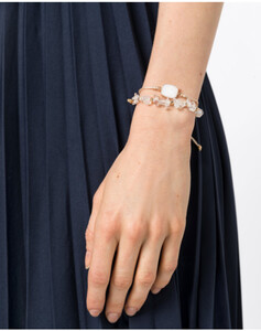 Hallhuber Armband-Set mit weißem Achat für Damen Gr. One Size in gold
