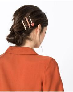Hallhuber Haarspangen-Set mit Ziersteinen für Damen Gr. One Size in gold