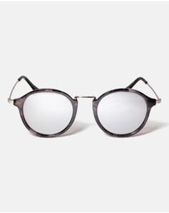 Hallhuber Runde Sonnenbrille mit Metallbügeln für Damen Gr. One Size in schwarz