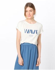 Hallhuber Shirt mit Fransenstickerei für Damen in offwhite