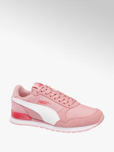 Puma Platform Kiss Suede Sneaker für Damen Pink Planet