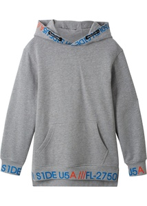 Kapuzensweatshirt in Longform